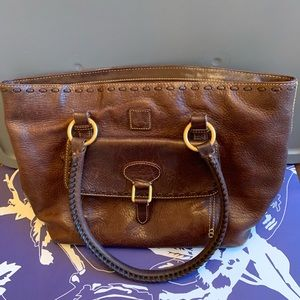 Dooney & Bourke Brown Leather Satchel